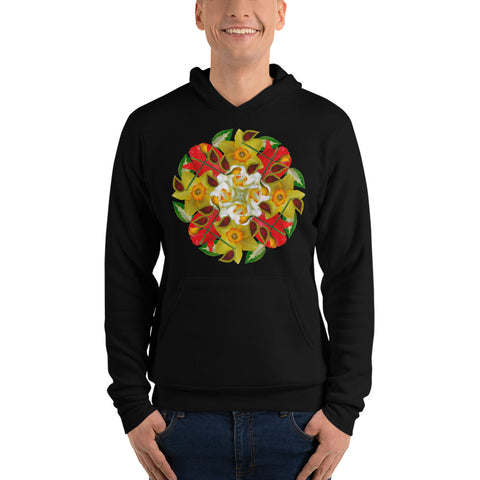 Flower Mandala I Am Complete Fleece Lined Hoodie
