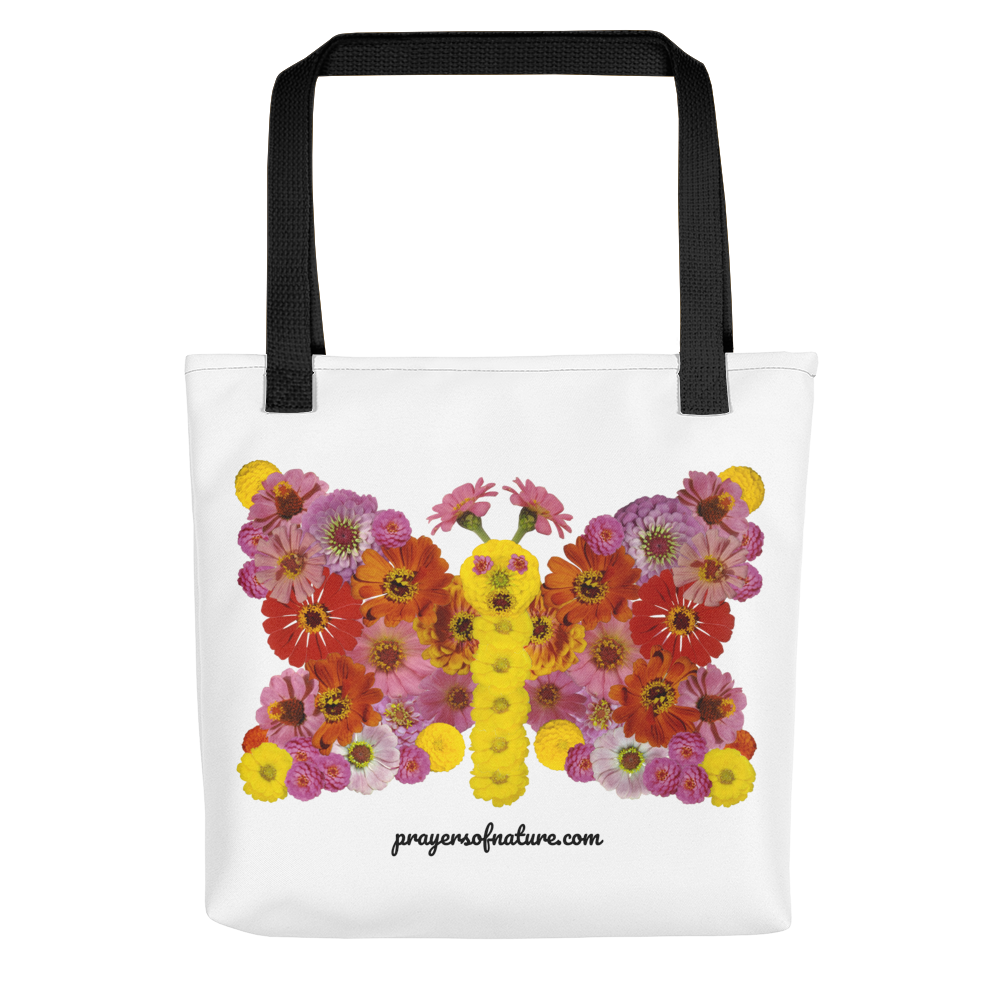 Flower Mandala butterfly Tote bag