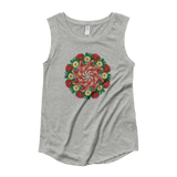 Flower Mandala I Am Not Who I Was Capped Sleeve Shirt