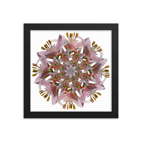 Flower Mandala I Am Unconditional Love Framed Print