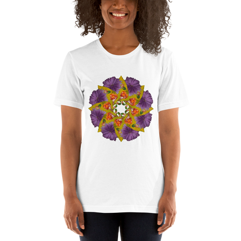 Flower Mandala I Am Strong Short-Sleeve Unisex T-Shirt