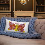 Flower Mandala Butterfly  Pillow