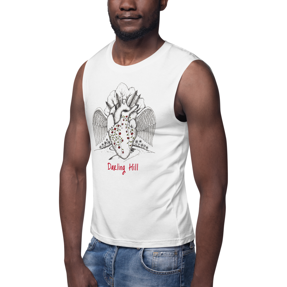 Darling Hill Heart with Wings Unisex Sleeveless Shirt