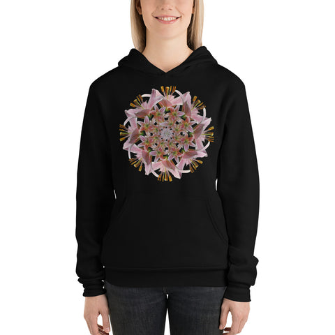 Flower Mandala I Am Unconditional Love Fleece Lined Hoodie