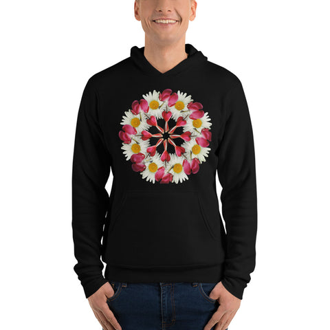 Flower Mandala I Am Not Alone Fleece Lined Hoodie