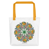 Flower Mandala I Am Reborn Tote Bag