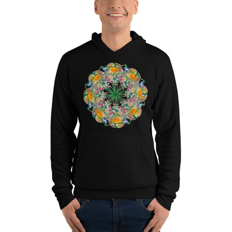 Flower Mandala I Am Reborn Fleece Lined Hoodie