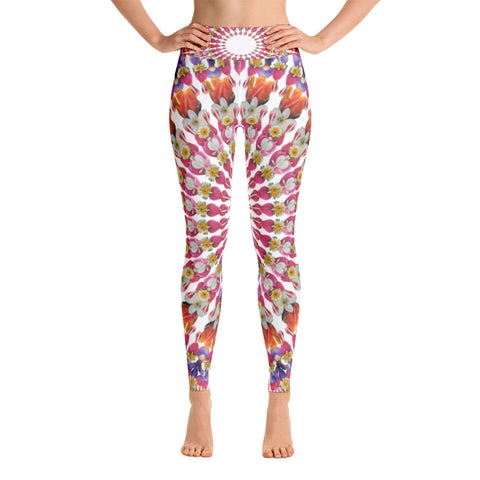 Flower Mandala I Am Love Yoga Leggings