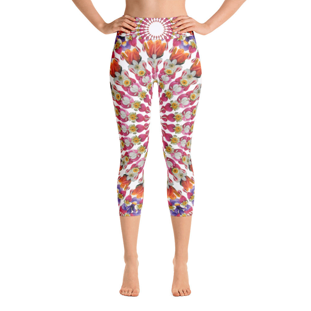 I Am Love capri yoga leggings White