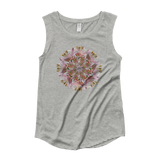 Flower Mandala I Am Unconditional Love Capped Sleeve Shirt