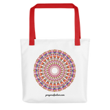 Flower Mandala I Am Love Tote Bag