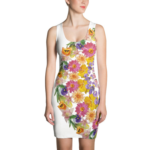 Flower Mandala I Am Confident Crescent Dress