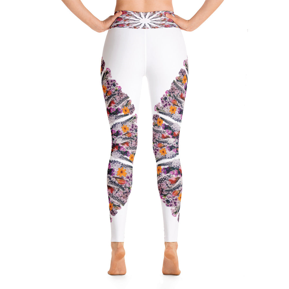 I Am Limitless Potential yoga leggings White
