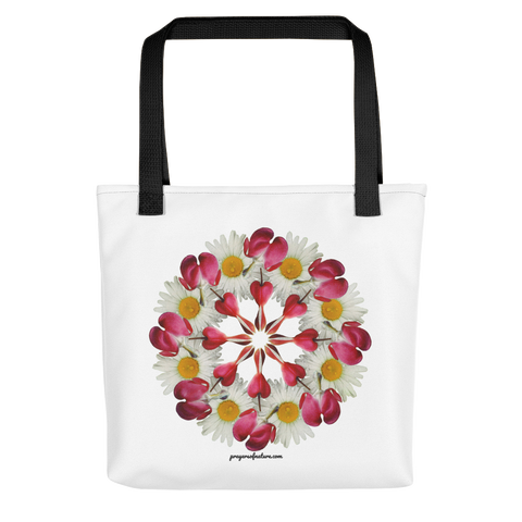 Flower Mandala I Am Not Alone Tote Bag
