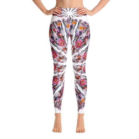 Flower Mandala I Am Limitless Potential Yoga Leggings