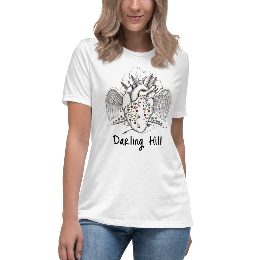 Darling Hill Heart with Wings Women's Relaxed T-Shirt