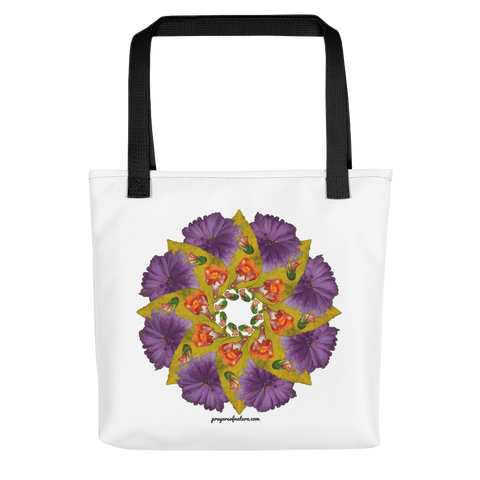Flower Mandala I Am Strong Tote Bag