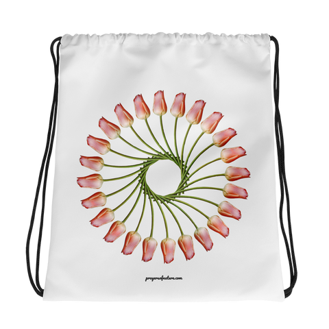 Flower Mandala I Am Finding Opportunity Drawstring Bag