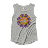 Flower Mandala I Am Strong Capped Sleeve Shirt