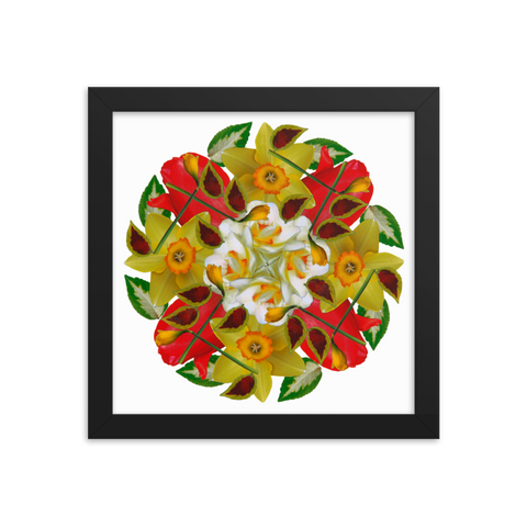 Flower Mandala I Am Complete Framed Print
