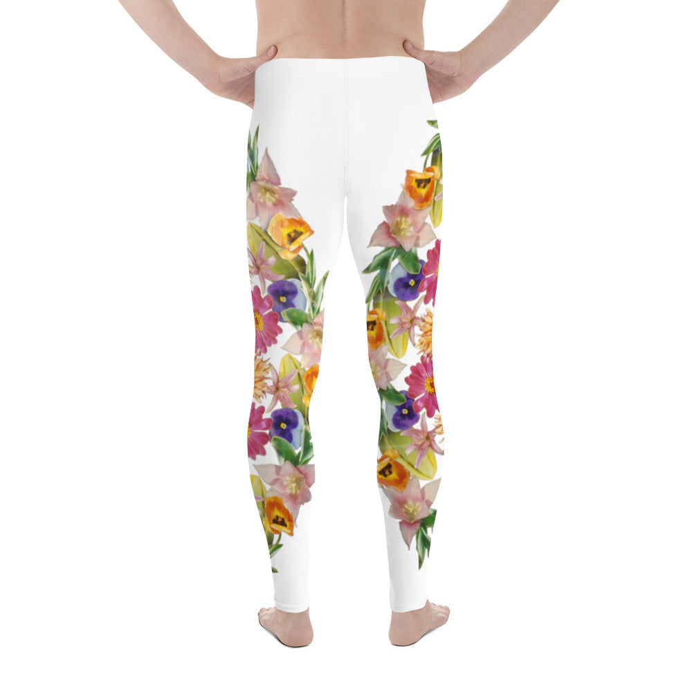 I Am Confident men's leggings White