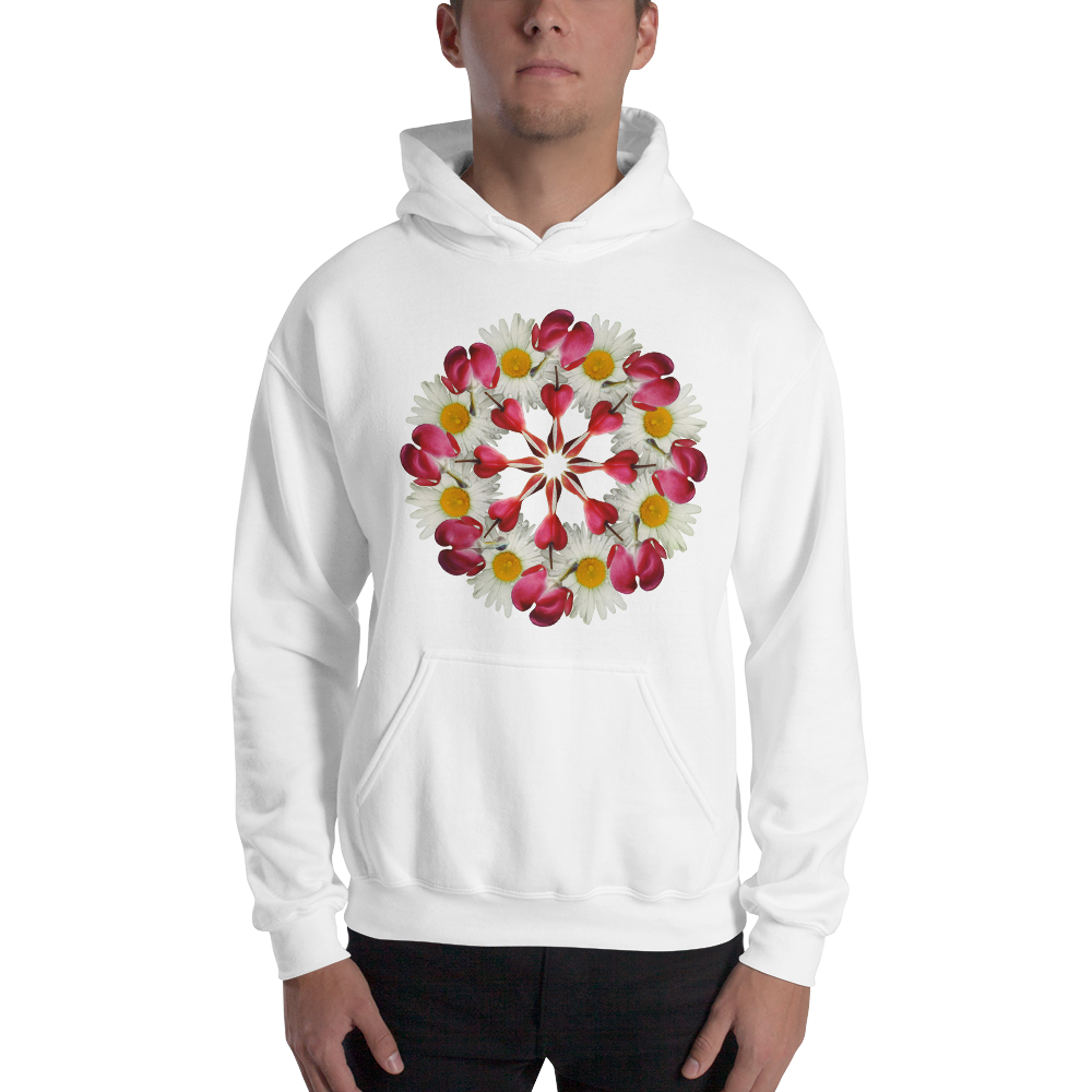 Flower Mandala I Am Not Alone Hooded Sweatshirt