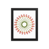 Flower Mandala I Am Finding Opportunity Framed Print