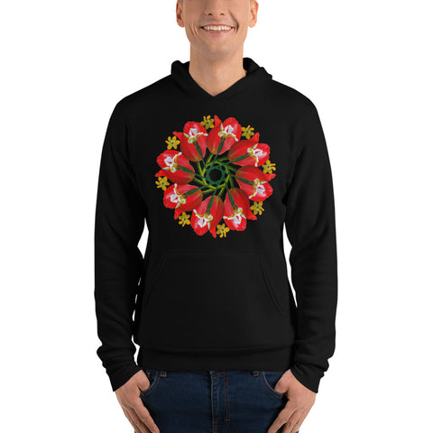 Flower Mandala I Am Creating My Reality Fleeced Lined Hoodie