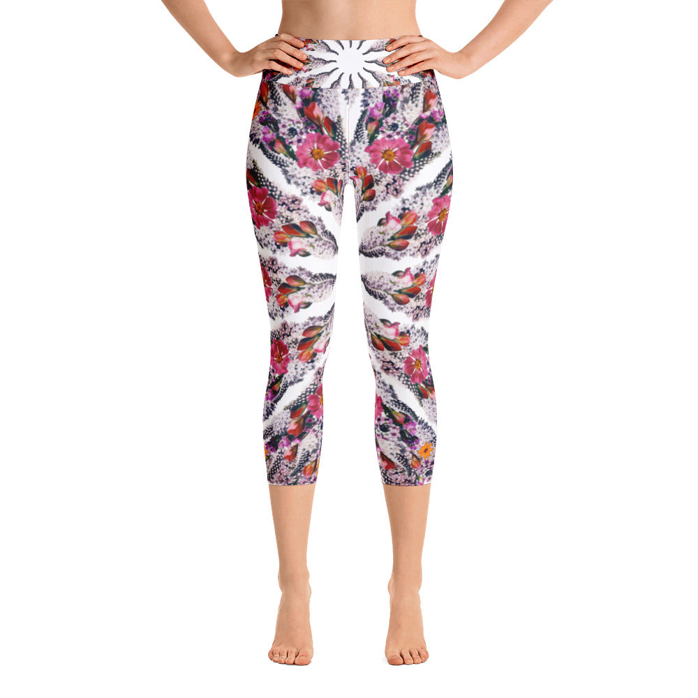 I Am Limitless Potential capri yoga leggings White