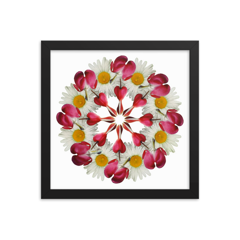 Flower Mandala I Am Not Alone Framed Print