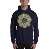Flower Mandala I Am Reborn Hooded Sweatshirt
