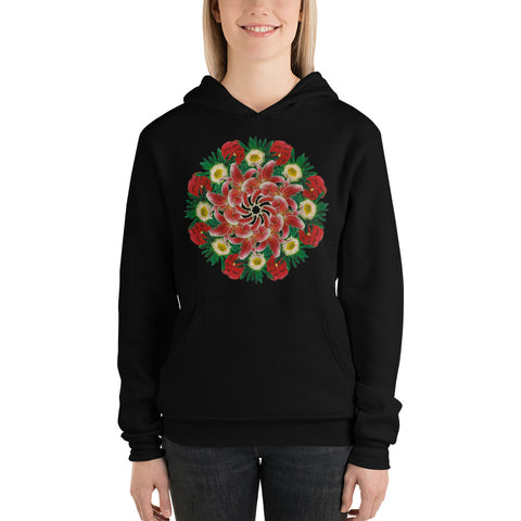 Flower Mandala I Am Not Who I Was Fleece Lined Hoodie