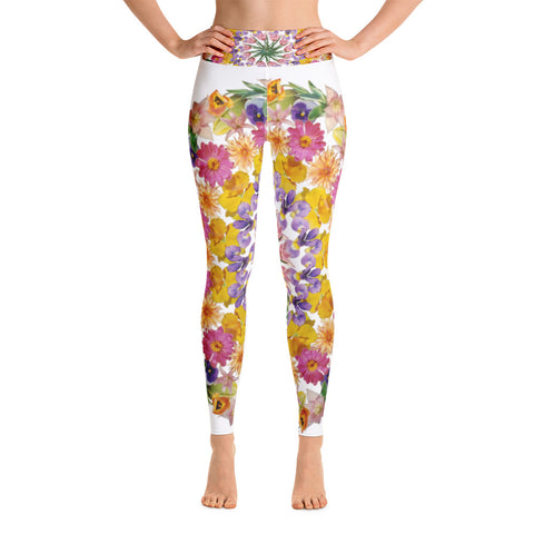 Flower Mandala I Am Confident Yoga Leggings