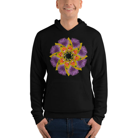 Flower Mandala I Am Strong Fleece Lined Hoodie