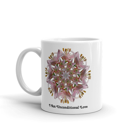 Flower Mandala I Am Unconditional Love Mug