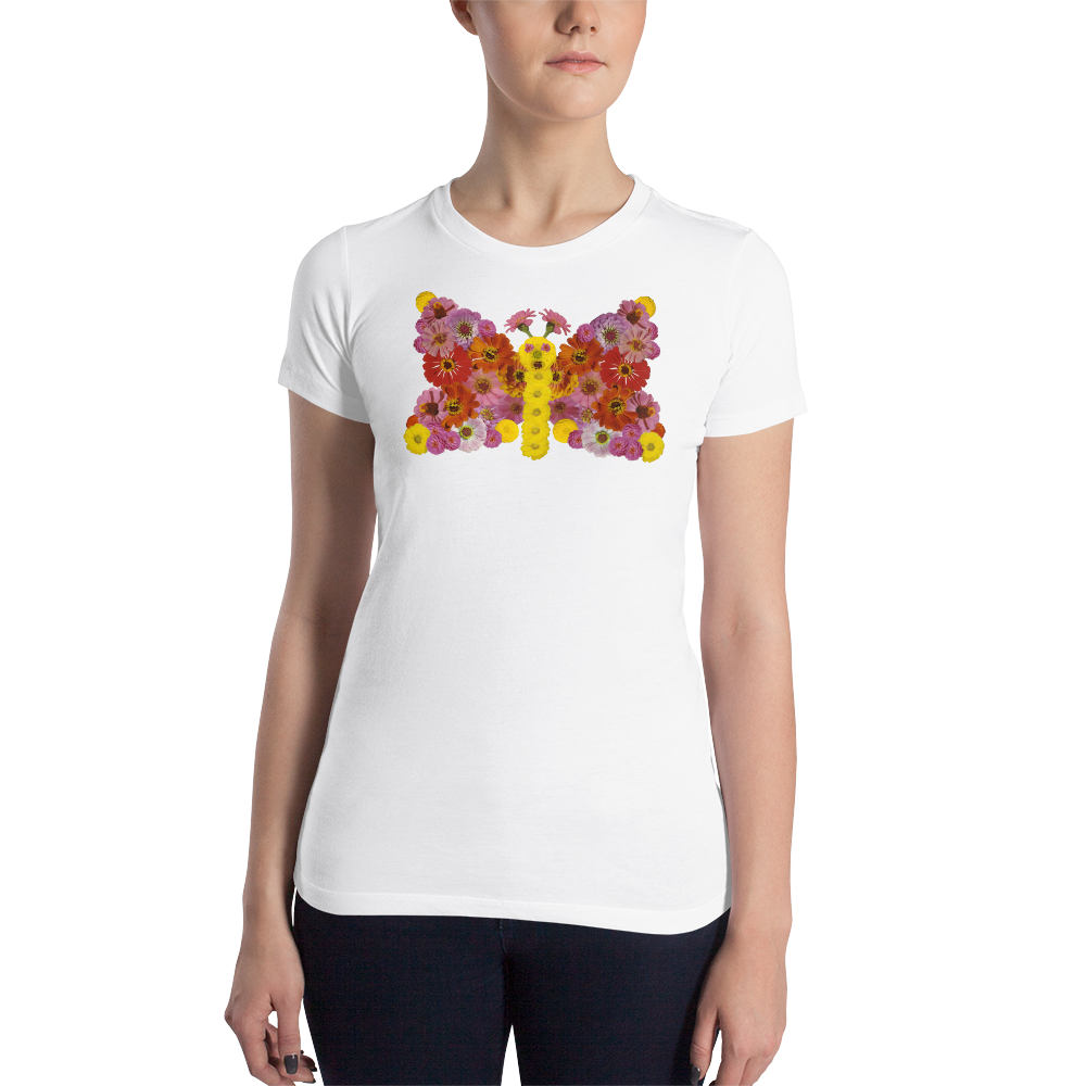 Flower Mandala butterfly  Slim Fit T-Shirt