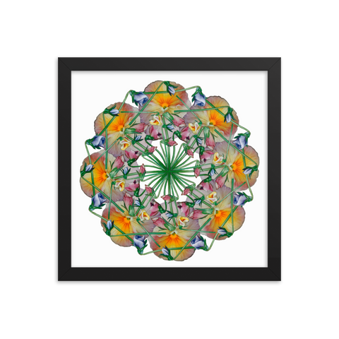Flower Mandala I Am Reborn Framed Print
