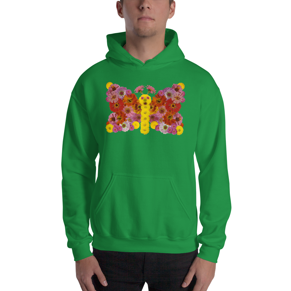 Flower Mandala Butterfly  Hooded Sweatshirt