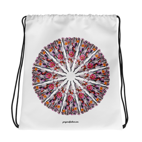 Flower Mandala I Am Limitless Potential Drawstring Bag