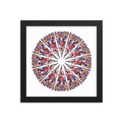 Flower Mandala I Am Limitless Potential Framed Print