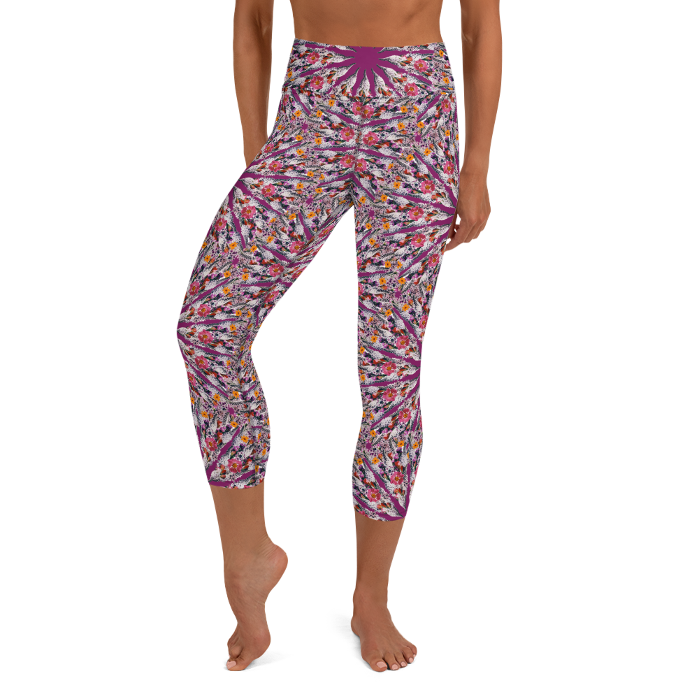 I Am Limitless Potential all over capri yoga leggings Purple