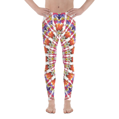 Flower Mandala I am Love Men's Leggings