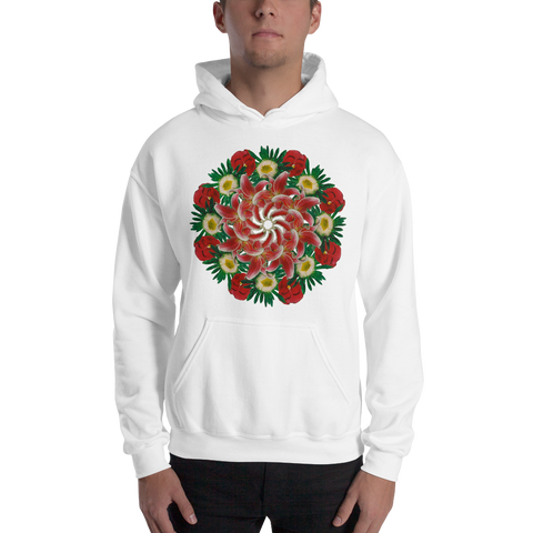 Flower Mandala I Am Not Who I Was Hooded Sweatshirt