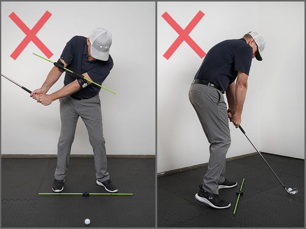 how to keep right elbow down in golf swing