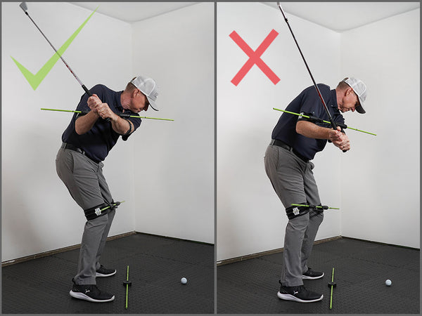 Fix a golf slice with proper arm spacing