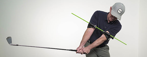 Swing Align Golf Swing Trainer in use