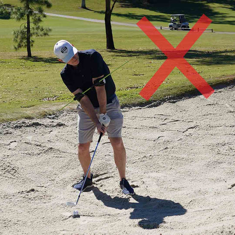 how not to hit out of a sand trap