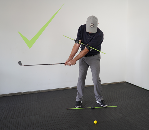 Golf Swing Takeaway Maintain Triangle