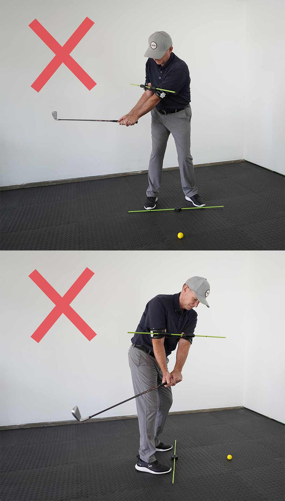 how not to use the swing align golf swing training aid to correct takeaway
