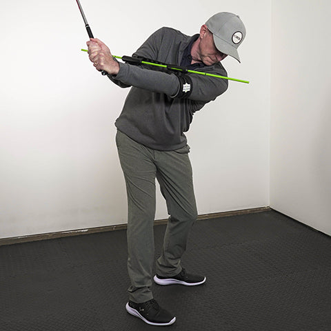 swing align golf aid, making a perfect backswing